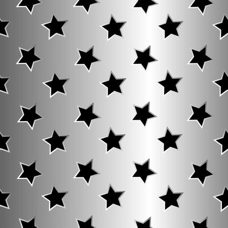metallic stars texture, abstract seamless pattern Vector