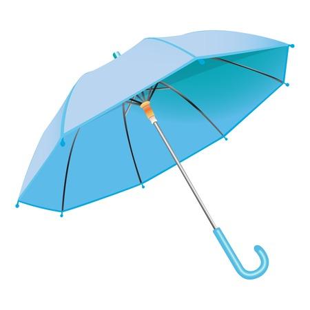 blue umbrella 向量圖像