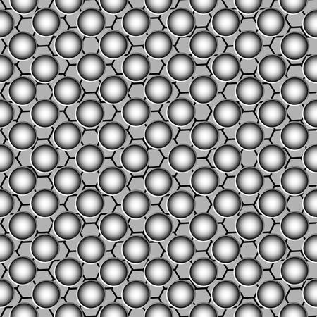 metallic circles pattern