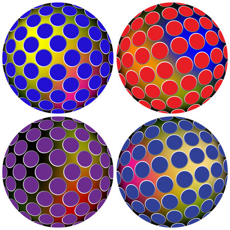 colored spheres Illustration