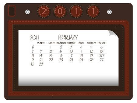 february 2011 leather calendar