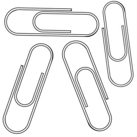 binder clip: metallic clips  Illustration