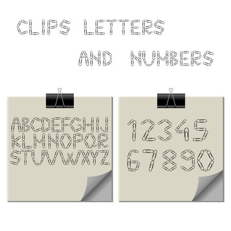 paper clips alphabet Vector