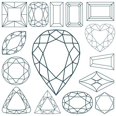 stenen vormen  Vector Illustratie