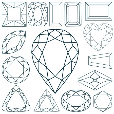 diamonds on black: stone shapes