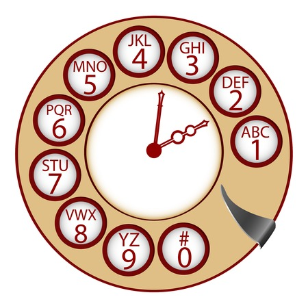 the telephone clock concept Stock Vector - 7304111