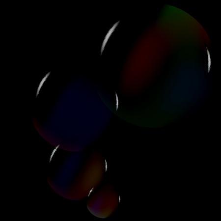 soap bubbles Vector