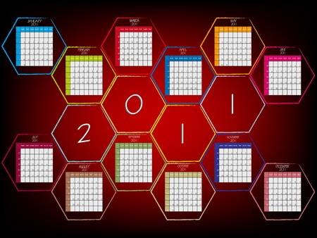 abstract calendar 2011  Vector