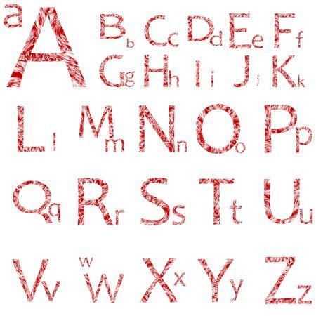 白い背景と、アート イラスト上に分離されて抽象的なアルファベット 写真素材