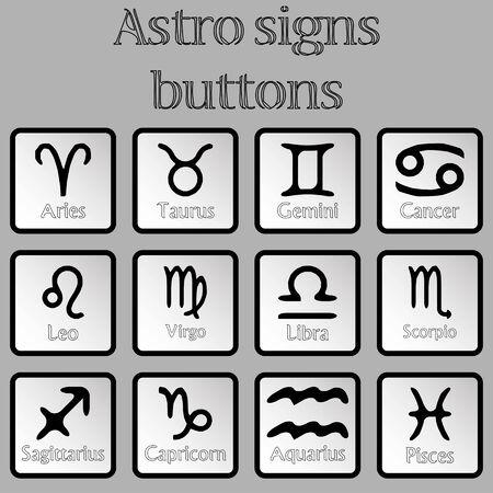 アストロ署名ボタン、抽象芸術の図 写真素材
