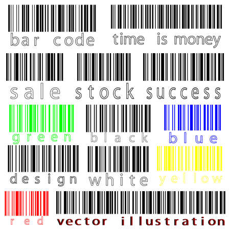 bar codes: bar codes against white background, abstract art illustration