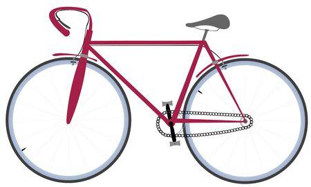 Bicycle, isolated on white, art illustration
