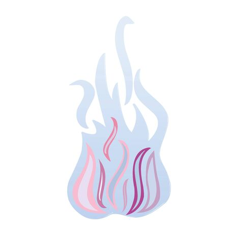 blue flames isolated on white, illustration Stock Illustration - 7322354
