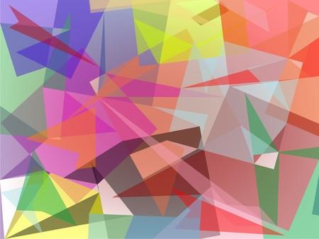 colored broken glass, art illustration Foto de archivo