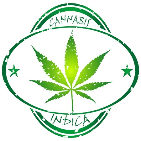 cannabis stamp isolated on white background, abstract art illustration