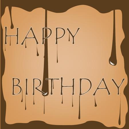 chocolate birthday, art illustration illustration