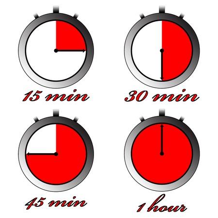 chronometers against white background, abstract art illustration Stock Illustration - 7323082
