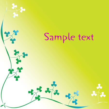 clover foliage with space for text, art illustration Stock Illustration - 7323698