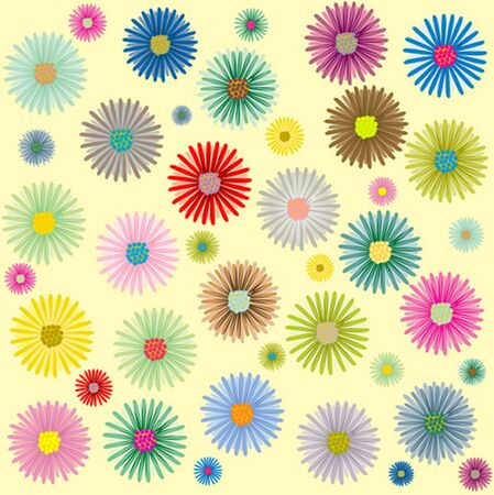 colored flowers pattern, art illustration, more patterns in my gallery Stock Illustration - 7322305
