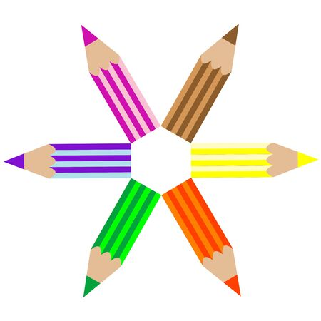 colored pencils, art illustration illustration