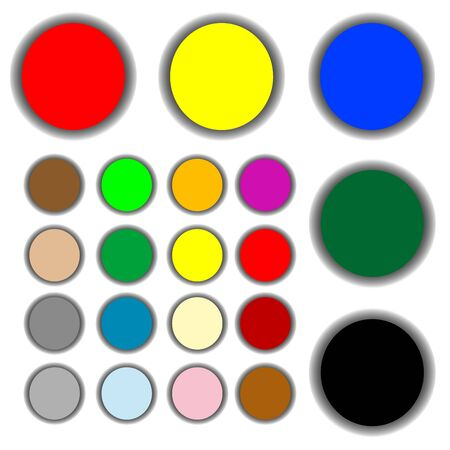 grope: colored web buttons, art illustration