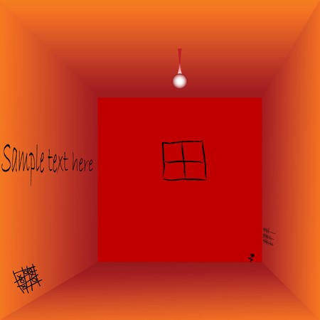 empty prison cell with space for text, art illustration Stock Illustration - 7323679
