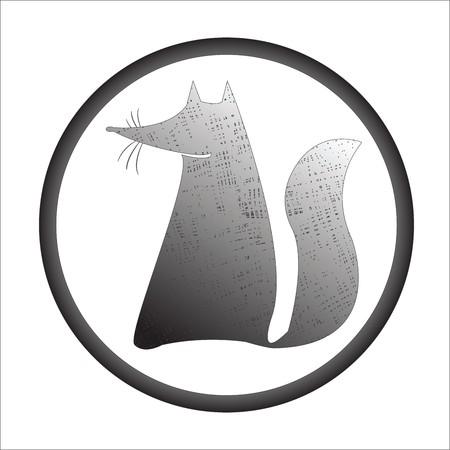 fox stamp, art illustration illustration