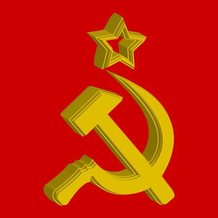 communist: Russian symbol, flag concept, abstract art illustration