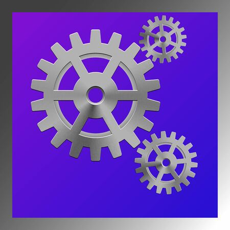 gearings: gear box composition, abstract art illustration Stock Photo