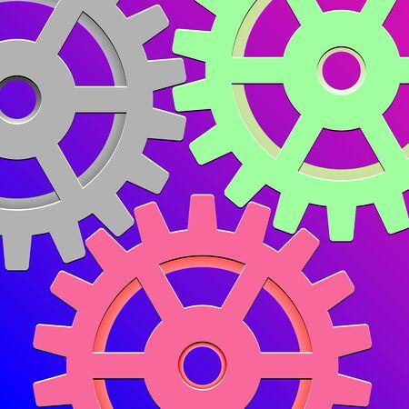 gear box: gear box mechanism, abstract art illustration