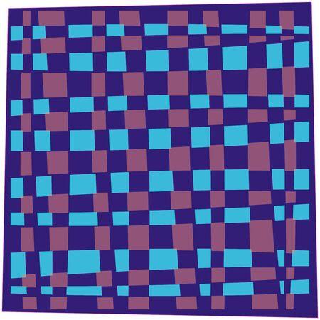 ハンカチ ブルー、抽象芸術の図
