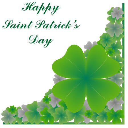 happy saint patrick's day, abstract art illustration Stock Illustration - 7324953