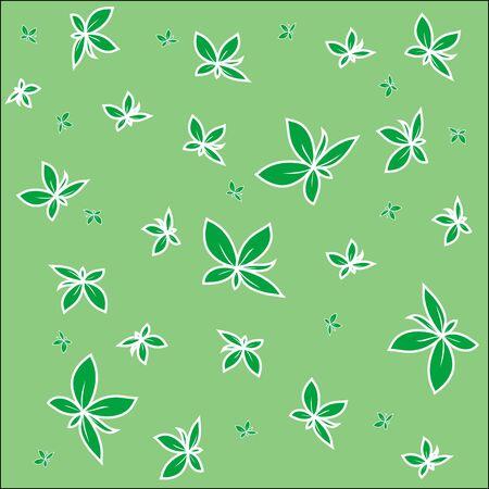 leaves pattern, art illustration Stock Illustration - 7324594