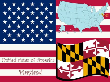 maryland state illustration, abstract art Stock Photo