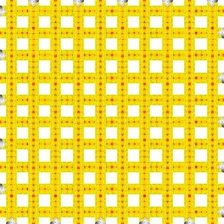 meetlint patroon, abstracte kunst illustratie Stockfoto