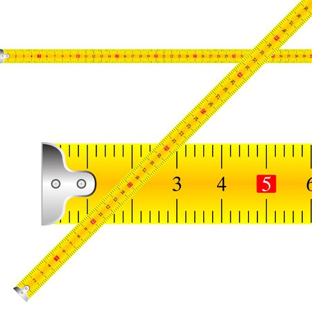 measuring tape against white background, abstract art illustration illustration