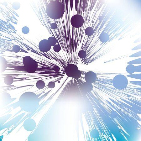 meteor shower: meteor shower, abstract art Stock Photo