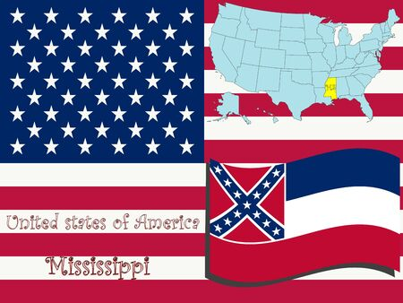 Mississippi state illustration, abstract art illustration
