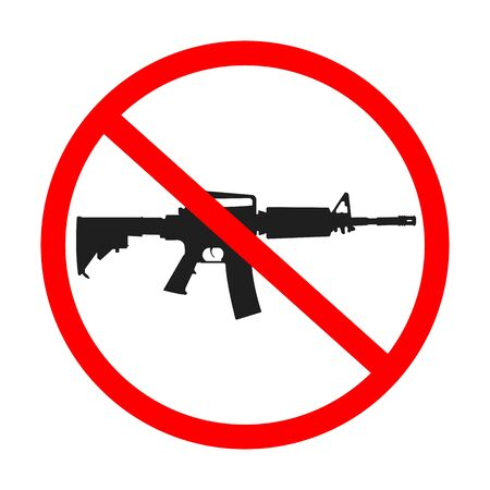 not permitted: no guns allowed, abstract art illustration