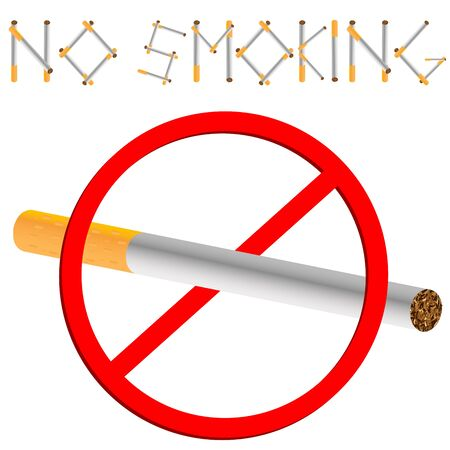 no smoking sign against white background, abstract art illustration illustration