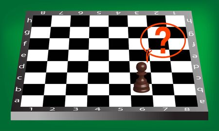 pown and chess board, abstract art illustration