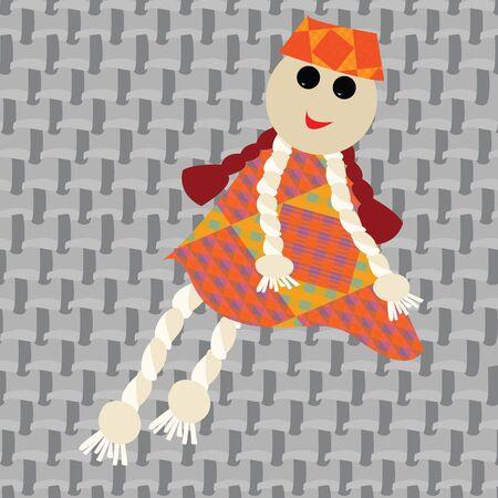 puppet little girl, art illustration illustration