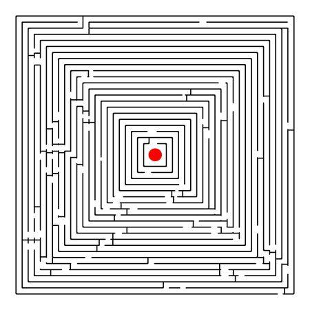 square maze, abstract art illustration illustration