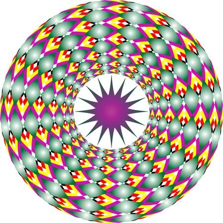 star and circles, art illustration Stock Illustration - 7325677