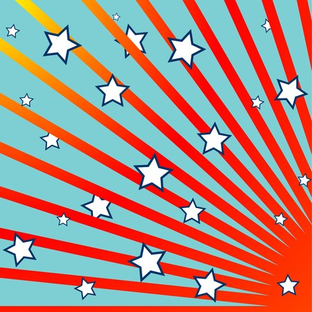 stripes and stars background, abstract composition, art illustration Stock Illustration - 7324464
