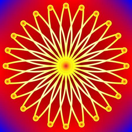 stylized sun background, art illustration Banco de Imagens