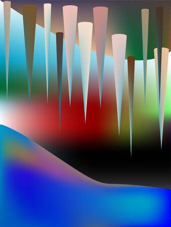 the cave, art illustration Stock Illustration - 7324634