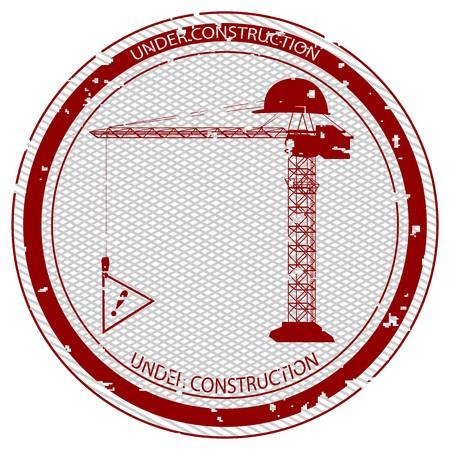 under construction stamp, abstract art illustration illustration