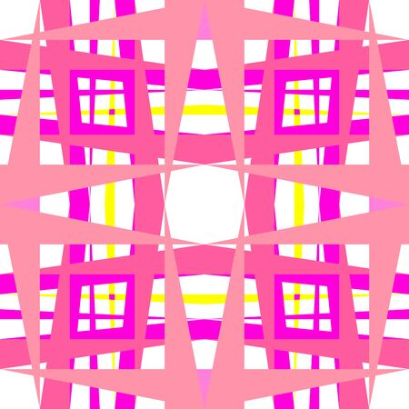 abstract geometric pink shapes,  art illustration illustration