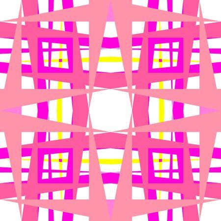 abstract geometric pink shapes,  art illustration Stock Illustration - 7335695
